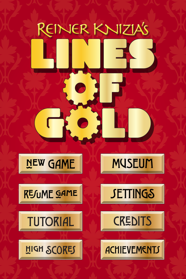 Screenshot Reiner Knizia's Lines of Gold